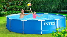Intex Mega Set Frame Pool Family 366 x 84cm Schwimmbad Swimming Pumpe + Zubehör