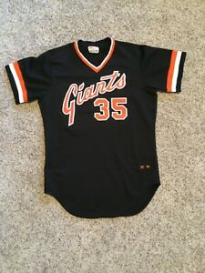 Game used Jersey 1980 S.F. Giants # 35 Dennis Littlejohn  BLK Alt.