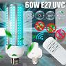 60W UVC Germicidal Light Ozone UV Ultraviolet Sterilizing Corn Bulb Lamp E27 LED