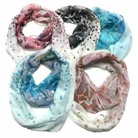 Infinity Scarf Top Fashionland Premium Soft Rock Fade Sheer Infinity Scarf