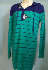 DC Shoes Medium LONG Dress HOODIE Hooded Top NEW Ladies skateboard surf M green