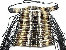 26 Row Brown and White Bone Breastplate Pow Wow Regalia Jewelry