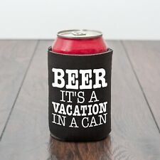 Beer, It's A Vacation In A Can/beer can cooler/BBQ/Beer lover/Funny drinks gift