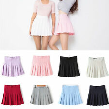 Women Girls Short High Waist Pleated Skater Tennis School Shorts Skirt