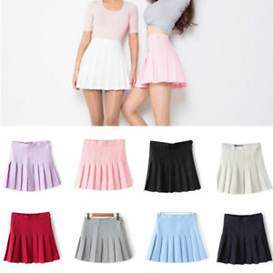 Women Girls High-Waisted Pleated Tennis Skirts Mini Skirts with Inner Shorts 1st