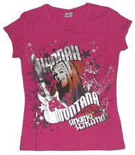 Size 7 - Hannah Montana Deep Pink Tee Shirt short sleeves