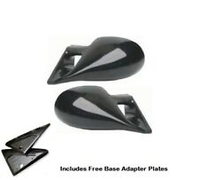 SEAT IBIZA & CORDOBA (02-09) M3 STYLE CAR DOOR MIRRORS BASE PLATES - BLACK