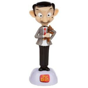 NOVELTY SOLAR POWERED DANCING MR BEAN WITH TEDDY, DASHBOARD TOY, HOME OR CAR