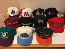 Vintage Vtg Snapback Hats Lot Sport Specialties NBA NHL NFL College