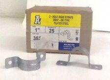 """ARLINGTON IND. 352 1"""" 2 Hole Riged Pipe Straps (LOT OF 25)  NIB"""