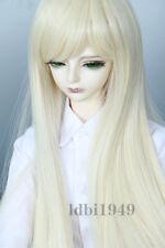 """1/3 8-9"""" Bjd Wig Dal Pullip BJD SD MSD DOD DD Dollfie Doll Long Blonde wigs A12"""