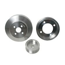 CNC Machined Lightweight Aluminum WP BBK 1653 Underdrive Pulley Kit for Ford Mustang 4.6L-3V GT SFI Approved Crank Pulley