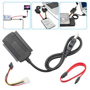 Câble convertisseur adaptateur SATA / PATA / IDE vers USB 2.0 pour disque dur F1