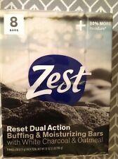 ZEST 8 4oz BARS RESET DUAL ACTION Buffing & Moisturizing Bars Soap Nourishing