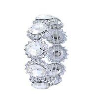 CLEARANCE Vintage Inspired Oval Crystal Bridal Bracelet (Sparkle-1486-U)