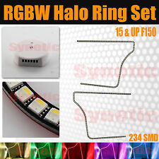 15-17 F-150 Multi-Color Angel Eyes LED RGBW Headlight Halo Ring Set Bluetooth