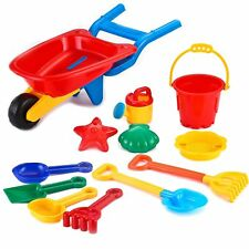 Joyin Toy Beach Sand Toy Set- Cart, Models and Molds, Bucket, Shovels and Rakes