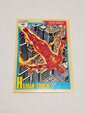 Human Torch #10 - 1991 Marvel Universe Series 2 - Free Bonus Card!