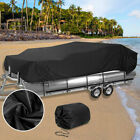 Trailerable Boat Cover Waterproof Bass Boat Cover Fit for 21-24' w/ Carrying Bag