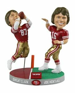 NFL Montana to Clark San Francisco 49ers The Catch - Only 1,982 Bobblehead