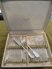 12 couverts poisson christofle Alfenide coquille fish cutlery set 24p