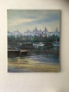 """Canalweg"" Original Oil Painting on Canvas"