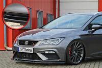 Spoilerschwert Frontspoiler ABS Seat Leon 5F Facelift FR ABE glänzend schwarz