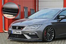 Alerón espada Front alerón ABS Seat Leon 5f Facelift FR Abe brillante negro
