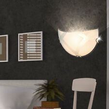 Design Wand Lampe Gästezimmer Glas Muster Schirm Leuchte Flur Chrom Beleuchtung