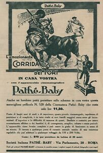 V3287 Projector Pathé Baby - Bullring Of Tori - 1926 Advertising - Vintage To
