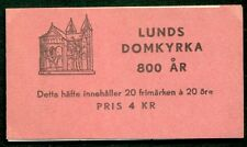 SWEDEN (H77) Scott 373a, 20ore Lund Cathedral booklet,