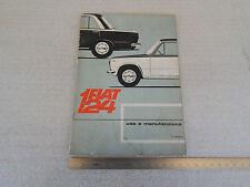 FIAT 124 1966 MANUALE USO MANUTENZIONE ORIGINALE