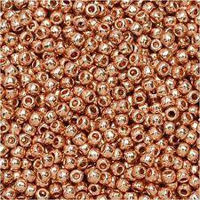 15/0  Galvanized Rose Gold  TOHO Round Seed Beads 10 grams #551