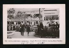 LONDON Franco-British Exhibition KE7 & President Fallieres used 1908 RP PPC