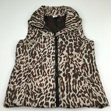 CAbi Cheetah Juliet Puffer Vest Style 3120 Leopard Animal Print Size Medium Fall