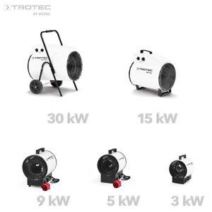TROTEC Elektroheizer Heizgerät Heizlüfter Bauheizer Baulüfter Heizung Zeltheizer
