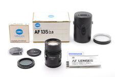【ALMOST UNUSED in BOX】Minolta AF 135mm f/2.8 (32) Wide Angle Prime Lens JAPAN
