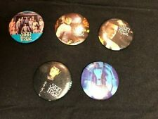 Vintage 1980's Star Trek Lot of Five   Button Pin 3x3 Inches Spock and Kirk