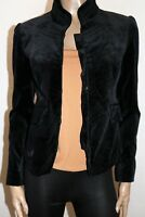 Sportsgirl Brand Black Velour Long Sleeve Jacket Size 8 BNWT #JA58