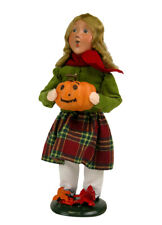 2014 Byers Choice Girl w/Smiling Pumpkin Open House Exclusive Signed by J. Byers
