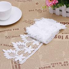 2 Yards Lace Trim Ribbon Wedding Bridal Dress Embroidered DIY Sewing Craft
