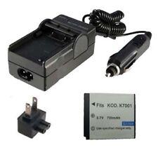 KLIC-7001 Battery&Charger for KODAK Easyshare M340 M320 M753 M1063 M863 Camera