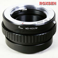Minolta MD lens to Sony E mount adapter NEX macro focusing helicoid A6000 APS-C