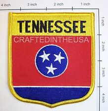 Tennessee State Flag Shield Embroidered Patch Sew Iron On Biker Vest Applique