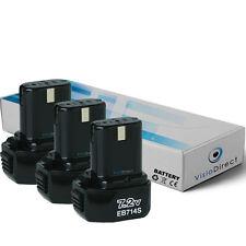 Lot de 3 batteries 7.2V 1500mAh pour Hitachi D10dB - Société Française -