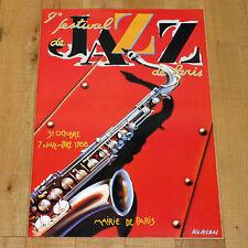 9° FESTIVAL JAZZ DE PARIS poster manifesto affiche Sax Music Sassofono 1988 F37