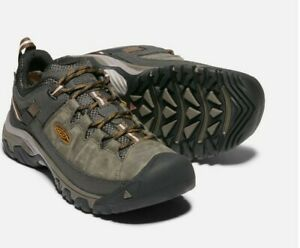 Keen Men's Targhee Waterproof Walking Shoes (Black Olive/Golden Brown) 10.5 UK