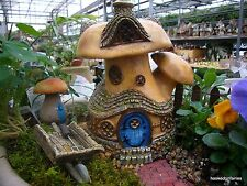 Miniature Garden Mushroom Tavern House Fiddlehead  Fairy GO 16436  hinged door