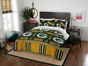 NFL Green Bay Packers Queen Bedding 5 Piece Bed In Bag Set Comforter Pillowcases