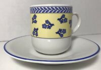 Demitasse Espresso Cups And Saucers Cipa Italy Set Of 5 Cups 4 Saucers